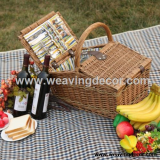 wicker baket picnic basket storage baskets