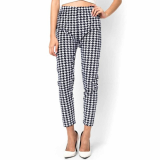 Dress_ Skinny Legging Pants Houndstooth Cotton for Womens