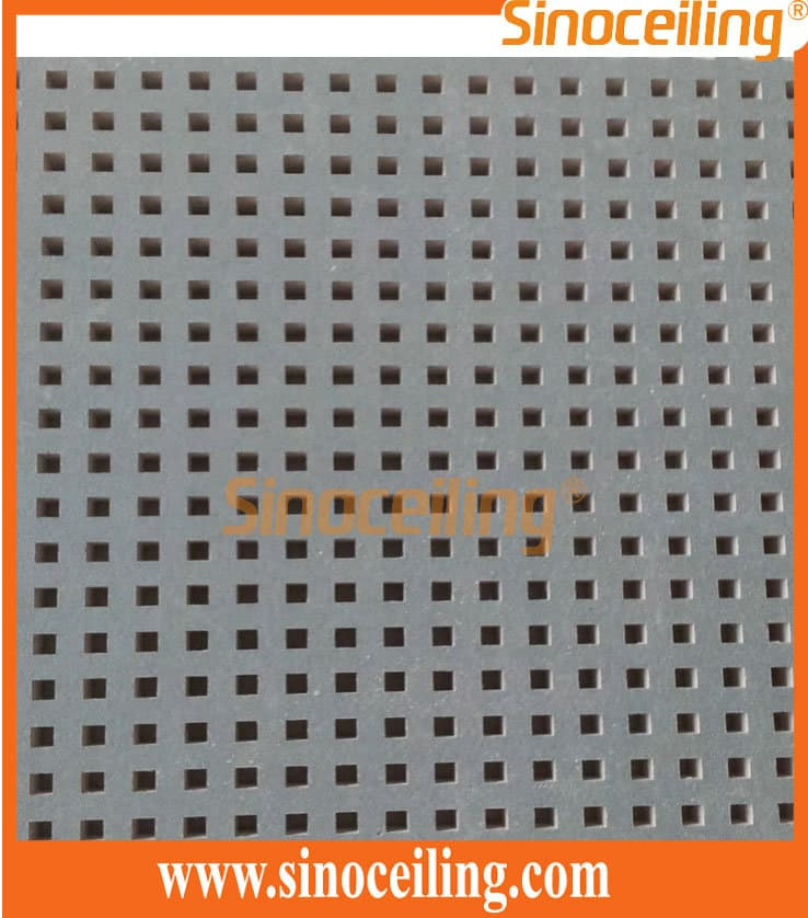 Manufacturing Of Perforated Gypsum Ceiling Tile By Sinoceiling