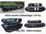 rubber crawler track undercarriage with angle