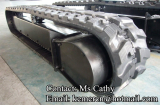 rubber track undercarriage with motor cover