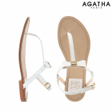 -Agatha- Scottie Ribbon Back Strap Sandal