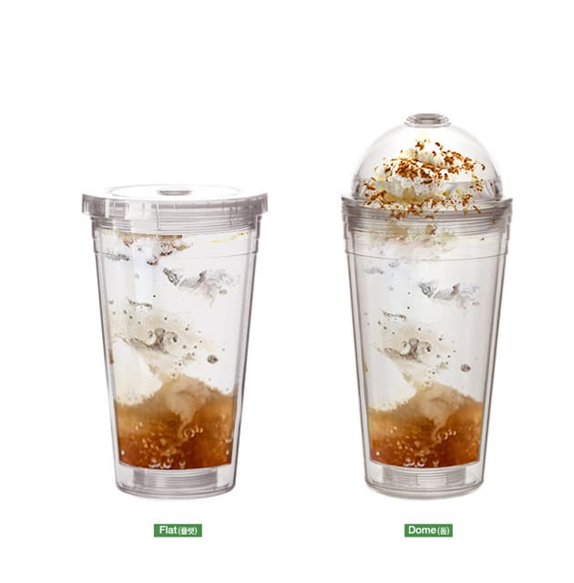 TEASCAFE Insulated Double Wall Tumbler with 2 lid_1 straw