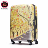 2016 New fashion printed hardside travel luggage set