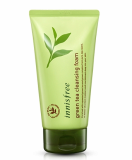 Innisfree green tea cleansing foam made in korea cosmetics