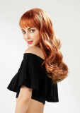 EYESHA Color fusion fashion wig 805 Orange mix_natural wave