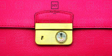 High End Square Push Lock Closure White Gem Purse Lock