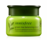 Innisfree green tea balancing cream made in korea cosmetics