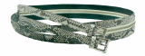 Luxury Python Leather Belt for Women