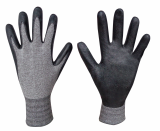 Natural Grip100 Bamboo charcoal_NBR Foam coating gloves
