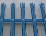 Galvanized steel palisade fence