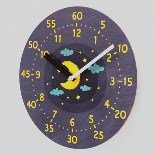 Eco White birch Education Wall clocks
