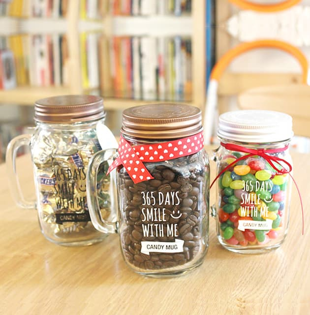 TEASCAFE 365days Glass jar with Turning lid_ Two kinds of ca