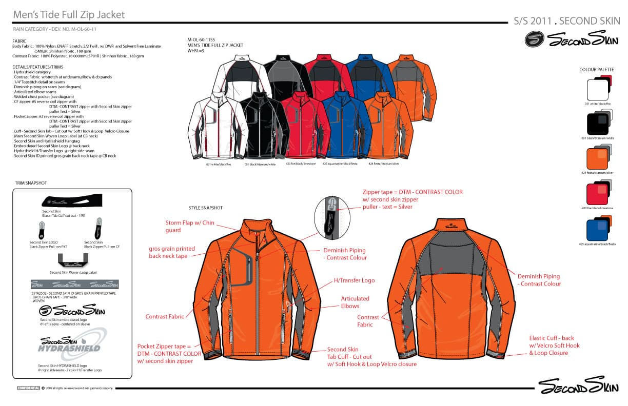 Mens seam sealing and welding full zip Jacket