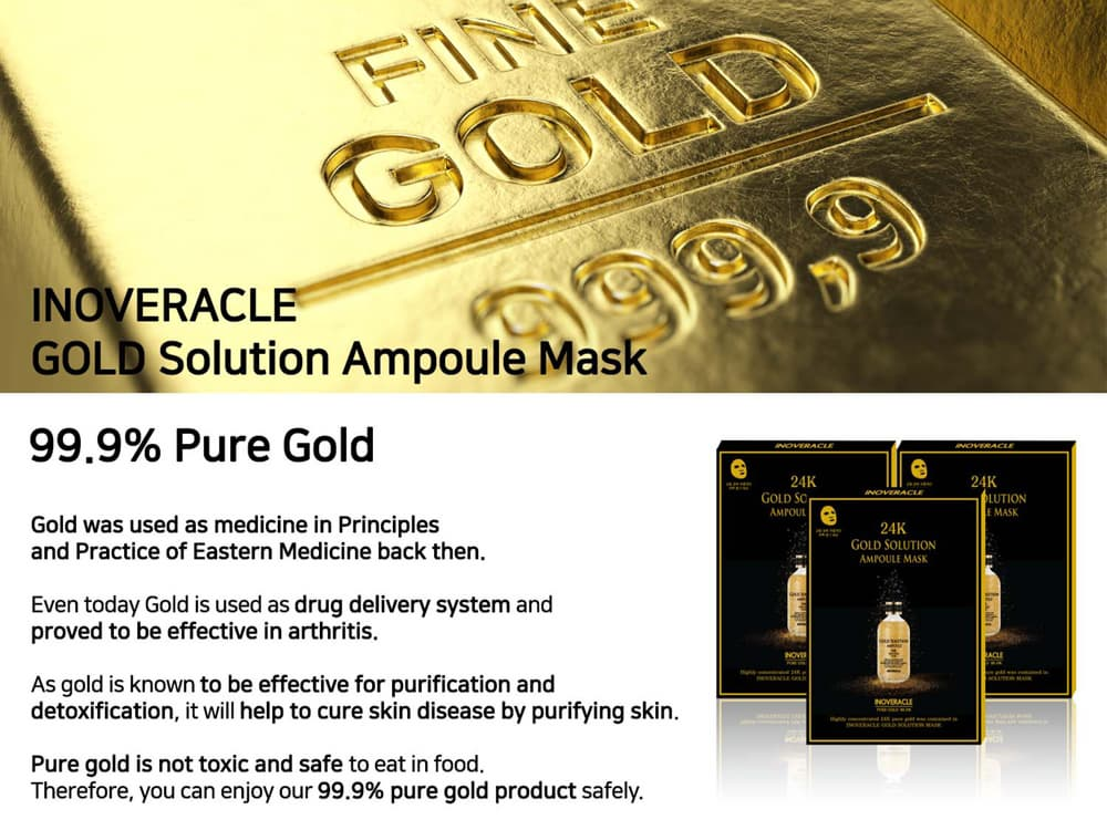 Face Essence Mask Sheet _ Gold Solution  Ampoule Mask