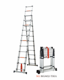 telescopic ladder A type 3.8m+3.2m one time folding ladder