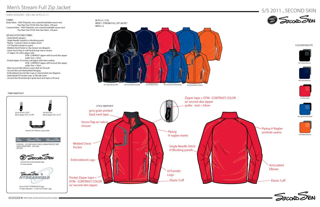 Mens welding full zip Jacket