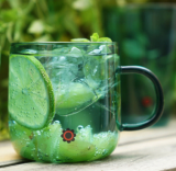 L Glass Mug 2p Gift Set _Jade__Beaker Glass Cup_