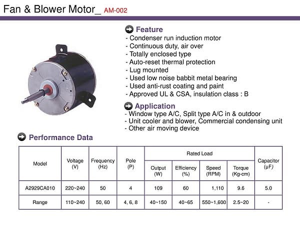 Blower Motor For Air Conditioner From Barotec B2b