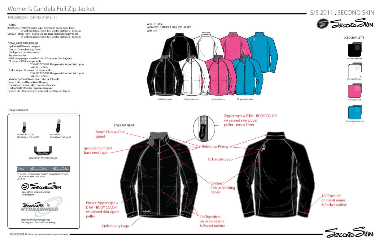 Womens Full Zip Jacket