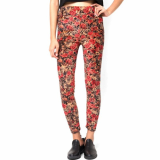 Dress_ Skinny Legging Pants Vintage Floral Print for Womens