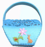 Easter Christmas Halloween Felt Bag Basket Bucket Container