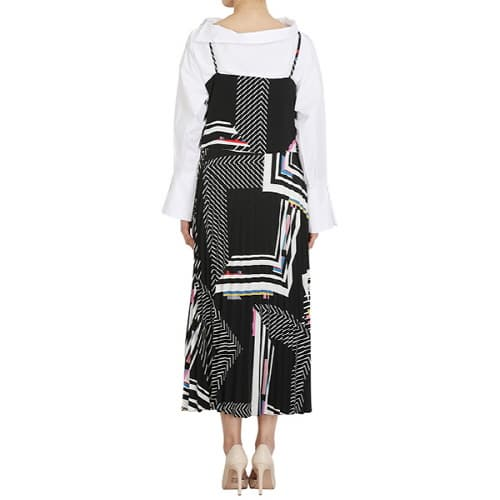 Slip dress featured layer and cool pattern