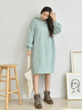 Dress_ Hood_ Turk Sleeve_ Loose fit_ Women_s apparel
