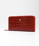 Zipper long_wallet_cowhide leather