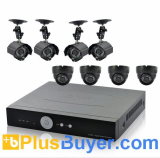 H.264 Surveillance DVR with 8 Nightvision IP Cameras, 1TB HDD, Internet Connectivity