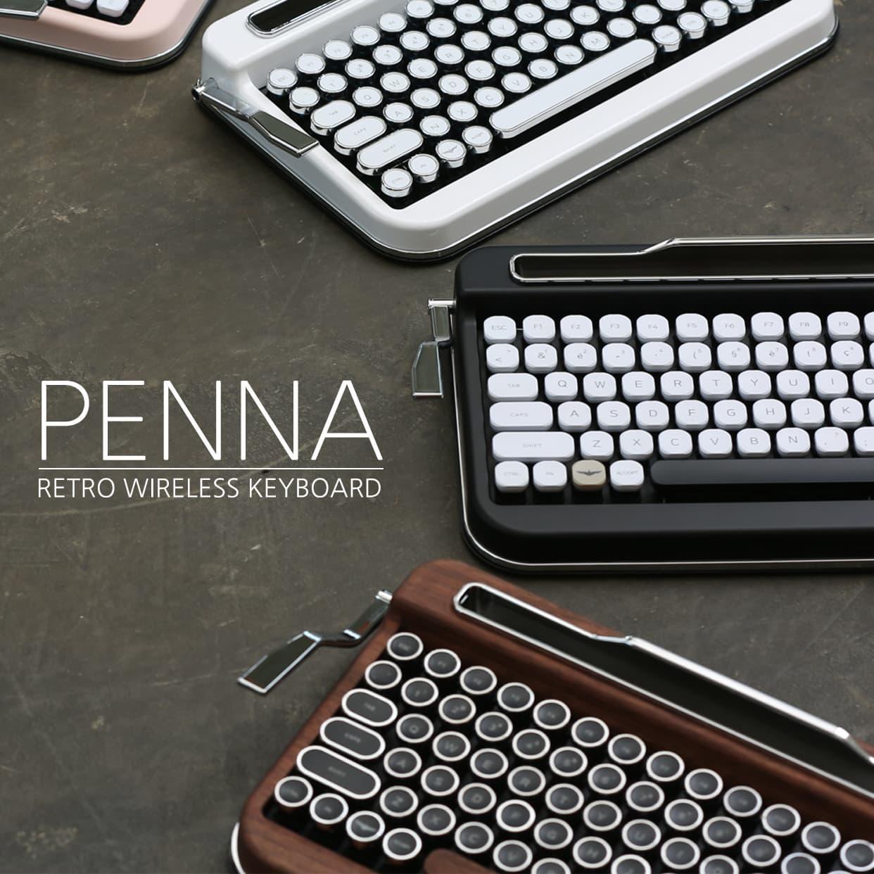 15fddfc0eb7 PENNA ( retro wireless bluetooth keyboard) | tradekorea