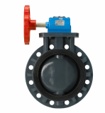 CHEMICAL RESISTANCE BUTTERFLY VALVE_GEAR TYPE_