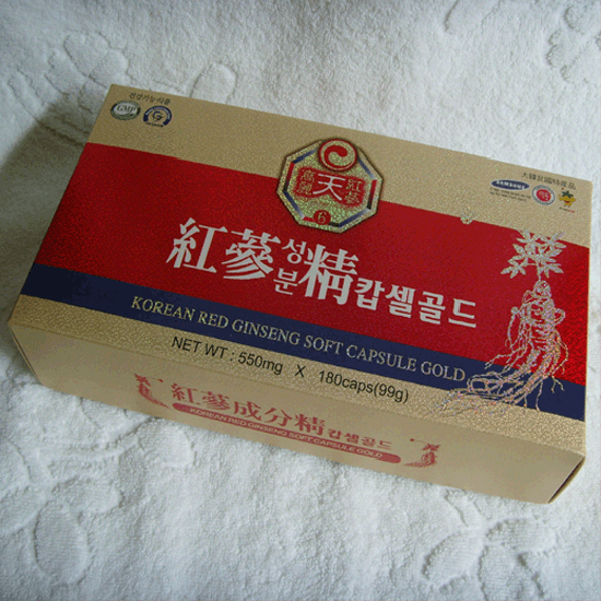 Korean Red Ginseng Soft Capsule Gold _550mg_180Caps_