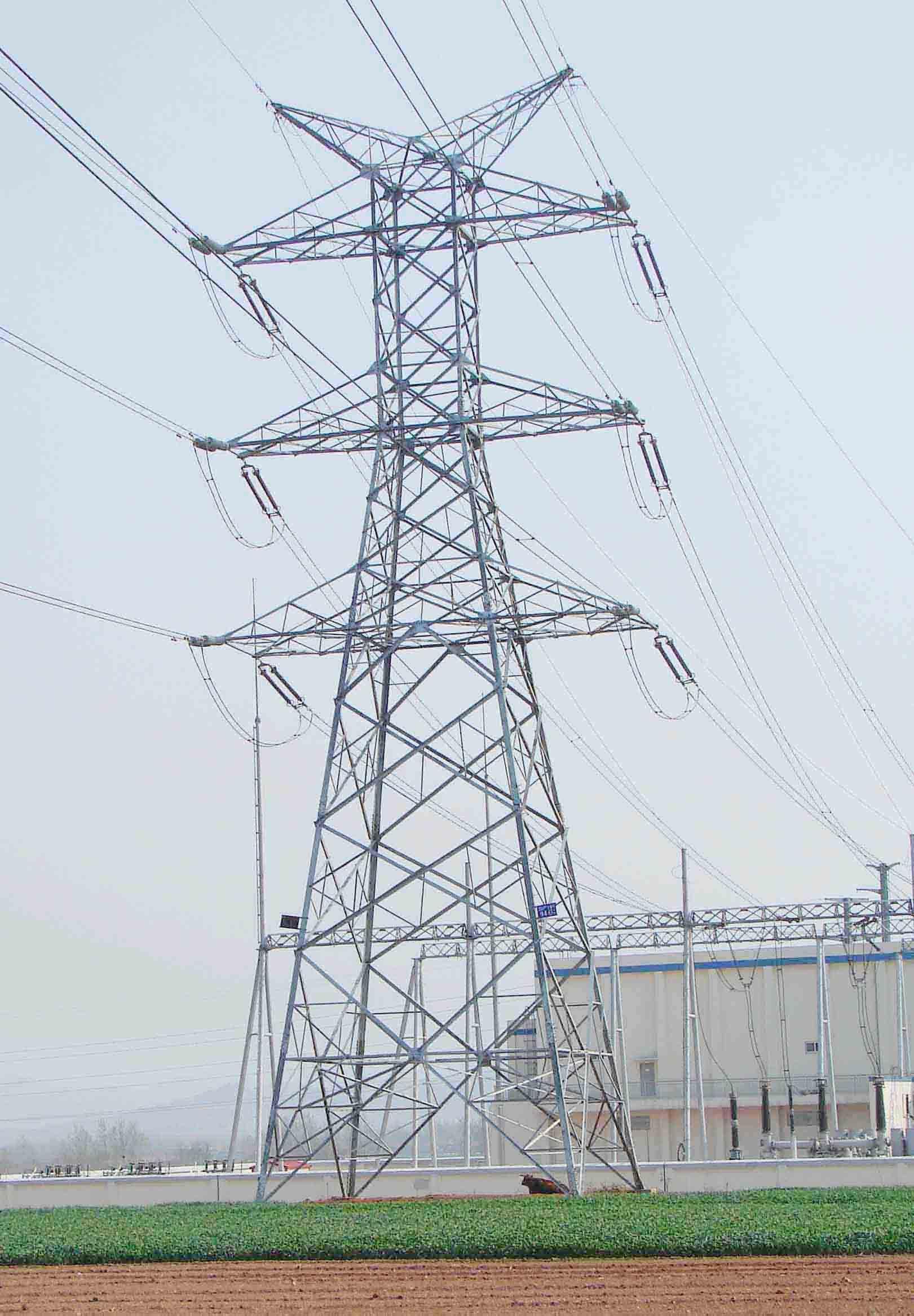 Electric Power Transmission Structures : Kv electric power transmission line tower from qingdao