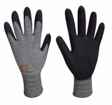 Natural Grip200 Bamboo charcoal_NBR Sandy coating gloves