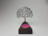 charme Silver wooden candle holder