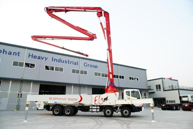 Truck Mounted Concrete Pump Elephant 5rz52 From Korea