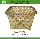Vietnam bamboo storage basket cheap