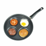 4 in 1 Egg Pancake Multi Sectional Frying Pan 4 Dimples hole