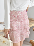 Skirt_ Mini Skirt_ Layered Skirt_ Floral