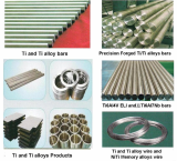 Ti and Ti alloy bars and Ingot, ELI bars, NiTi memory alloy
