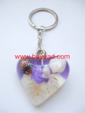 bayead,real starfish in man made amber keychains,key ring,so cute gift