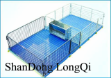 Nursery crate for piglet with metal fence