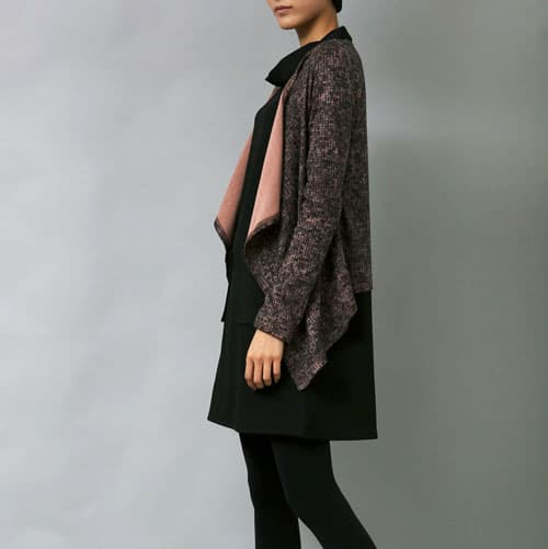 unbalanced short cardigan