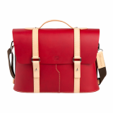 Truhaven Multi_use Leather Briefcase _Red_