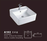 Bathroom sink basin