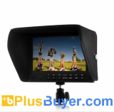 7 Inch On-Camera 1080P Monitor for DSLR (Built-in Speaker, HDMI Out)