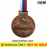 Custom Die Struck Sport Engraved Metal Medals