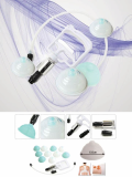 Silicone Vacuum Cupping Set with air pump