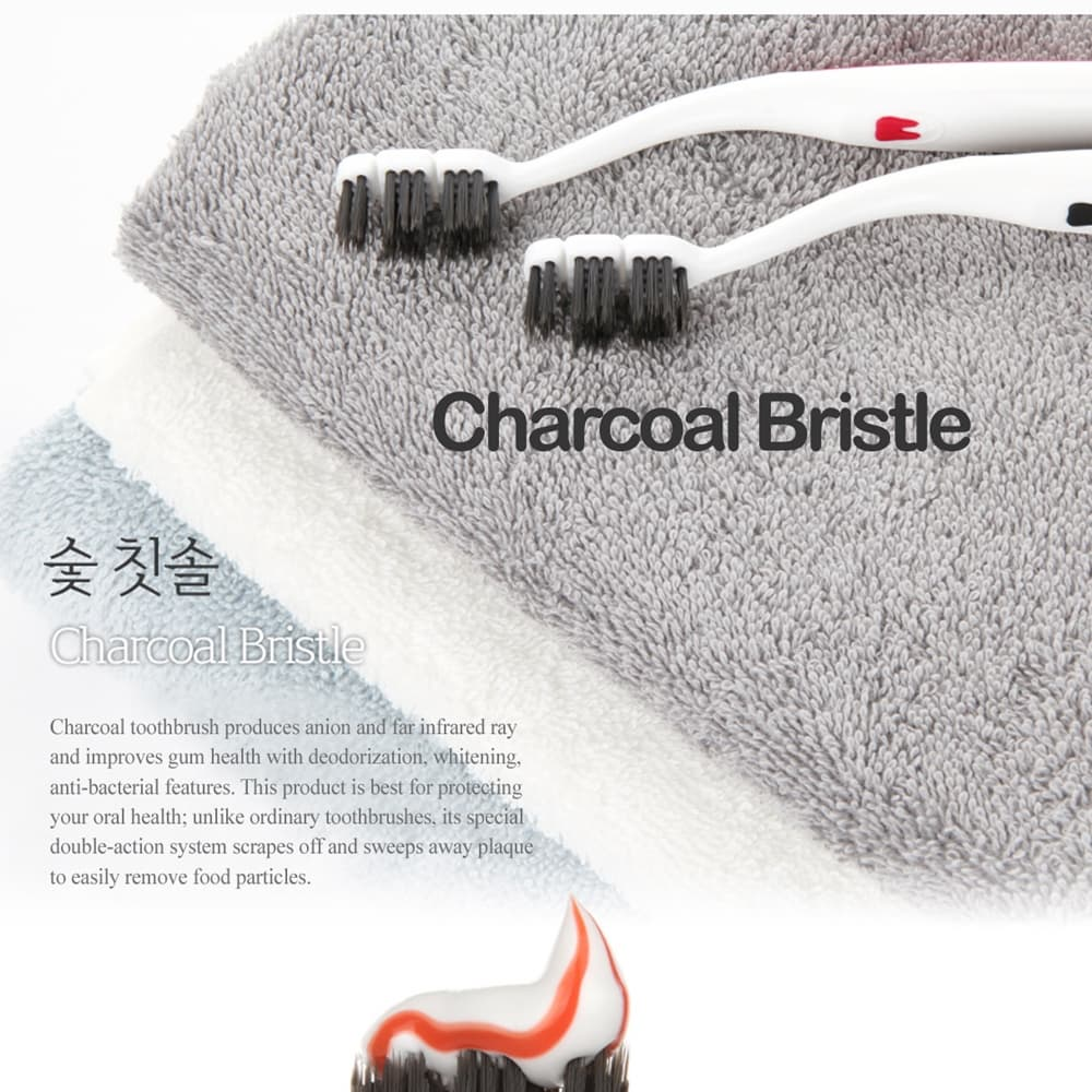 DENCLE SILVER_CHARCOAL FUNCTIONAL TOOTHBRUSH_10 Pieces